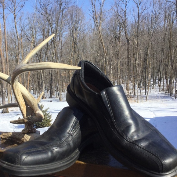 Ecco BLACK LOAFERS Shoes Size EU 42 8.5-9  EUC